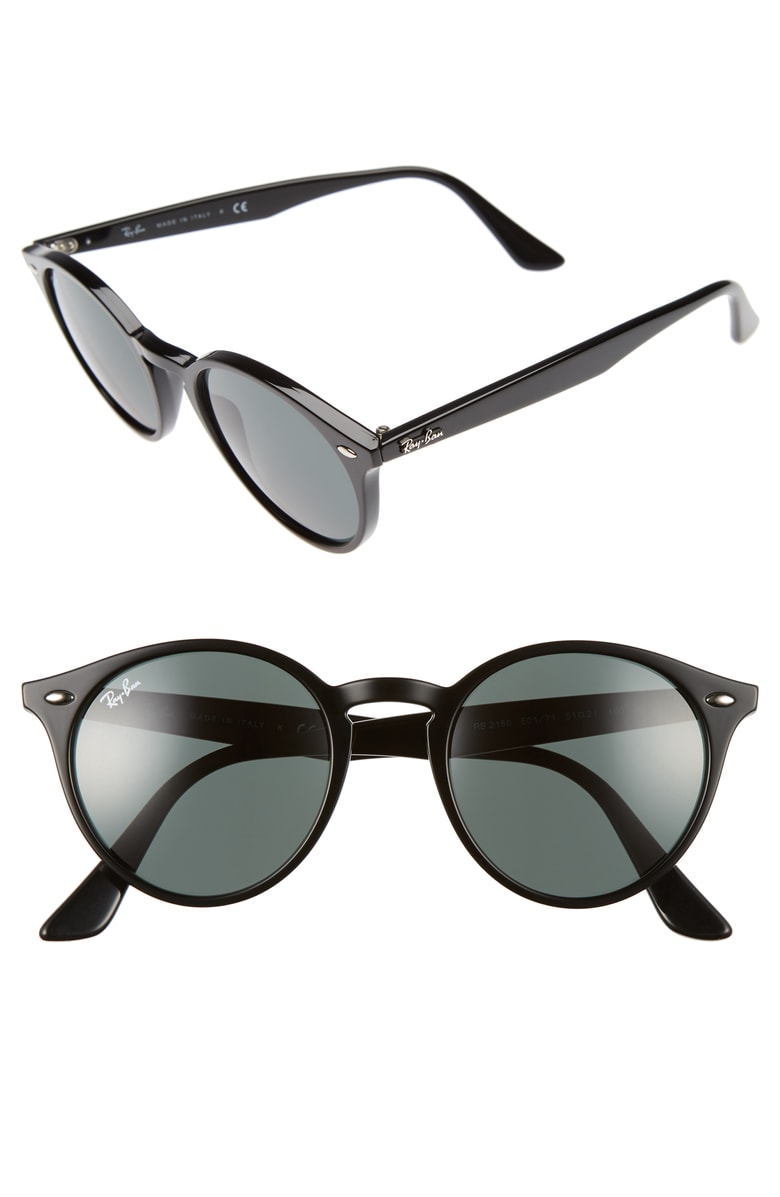 Ray Ban Black High Street Round Sunglasses-Meghan Markle