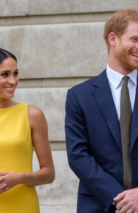 Duchess of Sussex in Yellow for Youth Commonwealth Reception