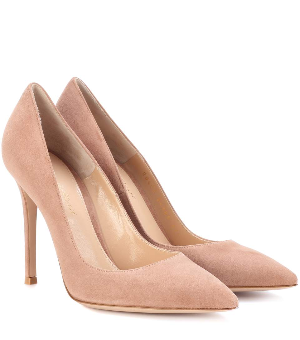 Gianvito Rossi Praline Suede Pumps-Kate Middleton