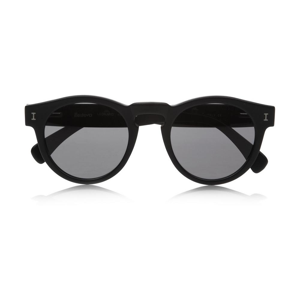 Illesteva 'Leonard' Black Sunglasses-Meghan Markle