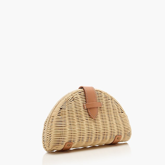 J Crew Fan Rattan Clutch-Meghan Markle