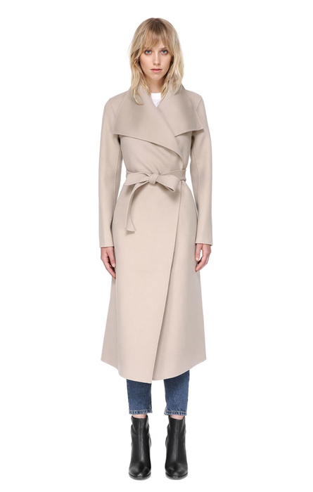 Mai by Mackage Waterfall Collar Coat(Sand)-Meghan Markle