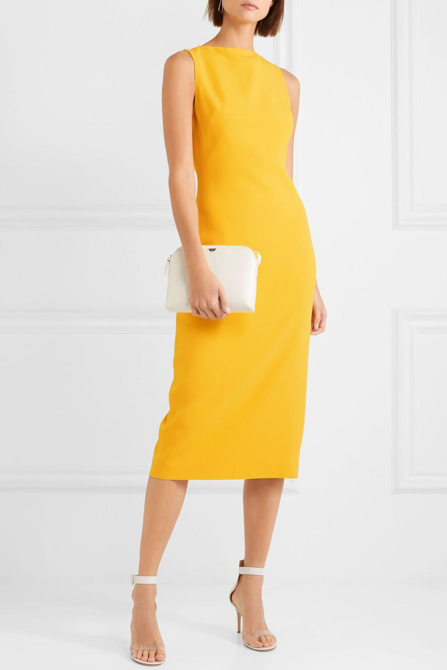 Brandon Maxwell Yellow Crepe Midi Dress-Meghan Markle