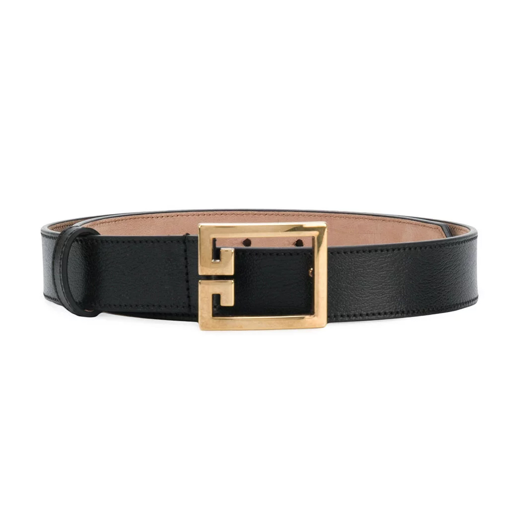 Givenchy Black Double G Belt-Meghan Markle