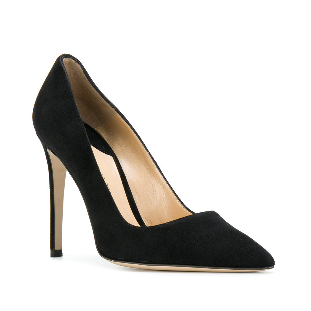 Paul Andrew Pump It Up Suede Black Pumps-Meghan Markle