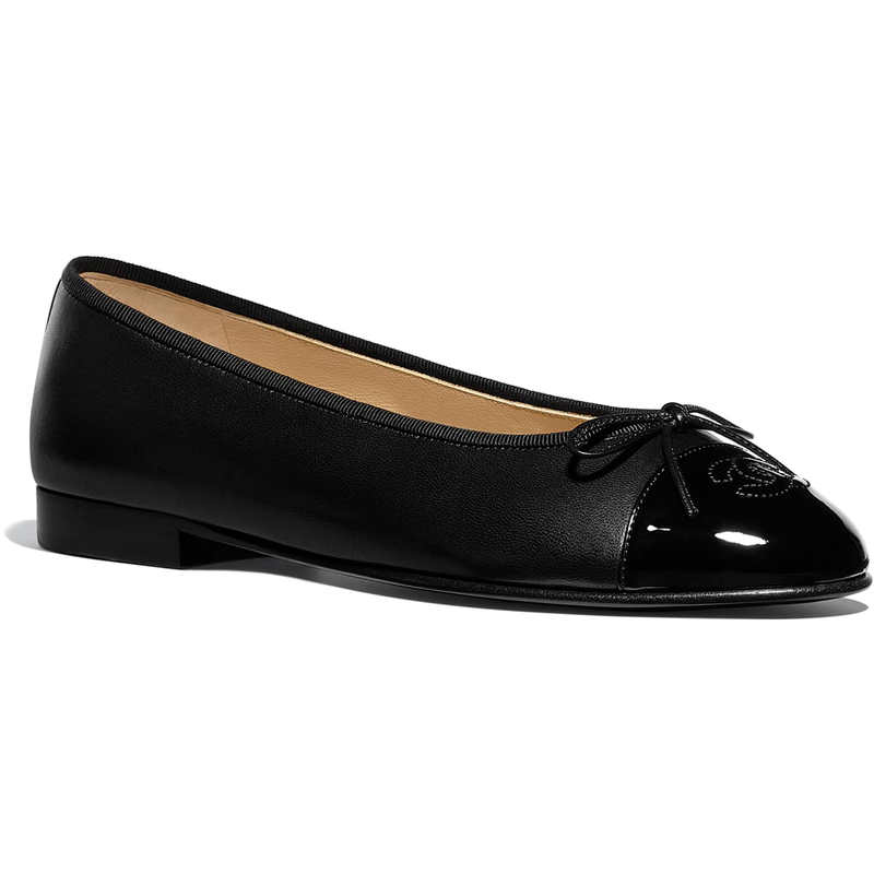 Chanel Black Ballet Flats-Meghan Markle