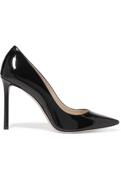 Jimmy Choo Romy Black Patent Leather Pumps-Meghan Markle