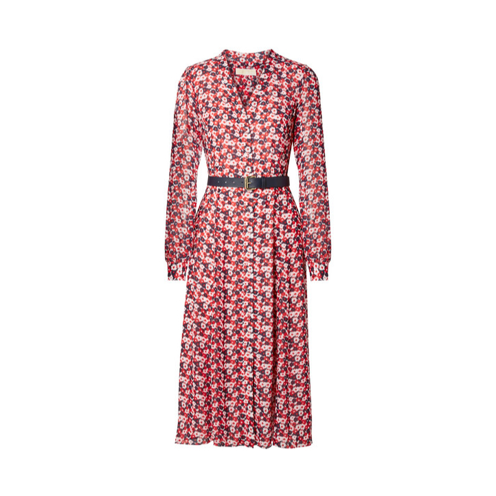 Michael Kors Carnation Georgette Shirtdress-Kate Middleton