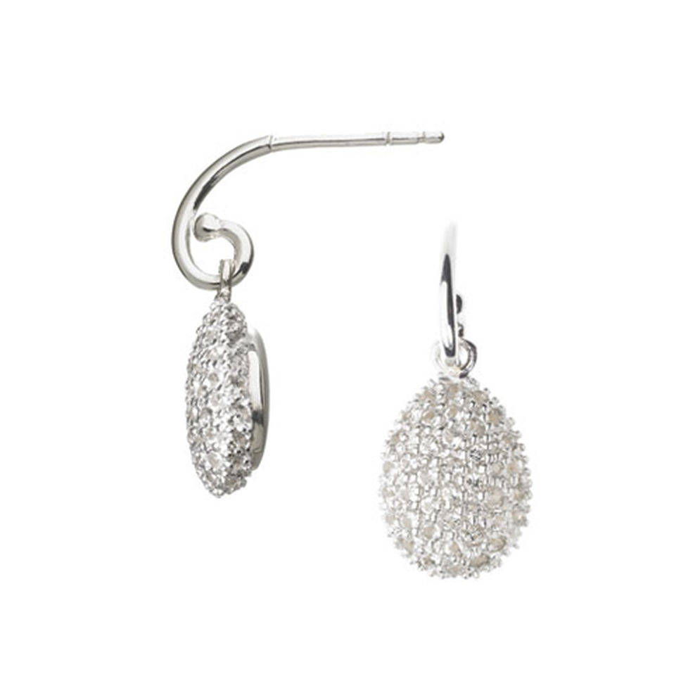 Links of London Hope Egg White Topaz Earrings-Kate Middleton