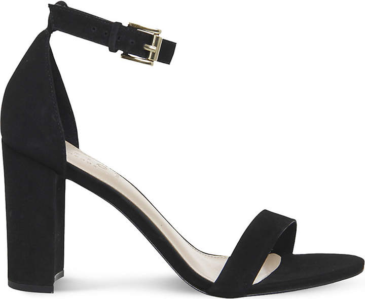 Office- Black Nina Block Heel Sandals