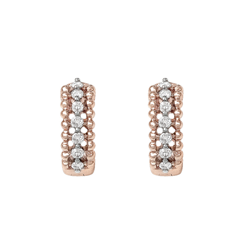 Vanessa Tugendhaft 'Parisienne' Diamond Hoop Gold Earrings
