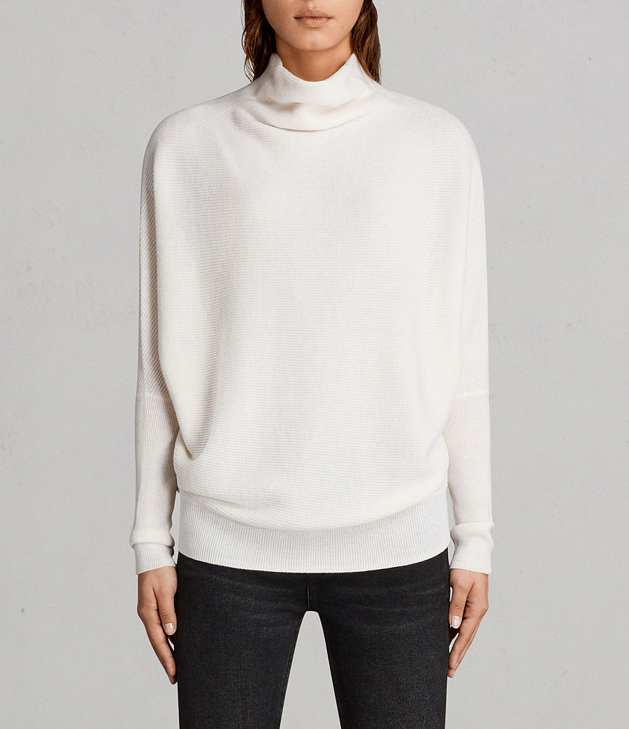 AllSaints Chalk-White Ridley Sweater-Meghan Markle
