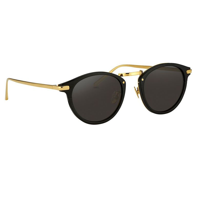 Linda Farrow Gold Tone Sunglasses-Meghan Markle