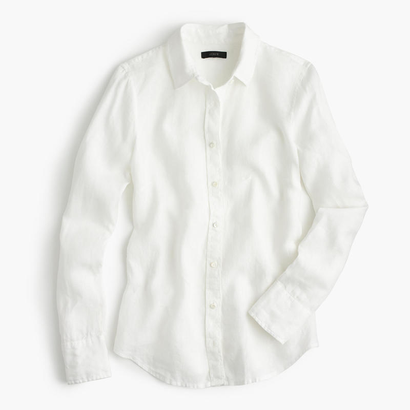 J Crew 'White' Linen Perfect Shirt-Meghan Markle