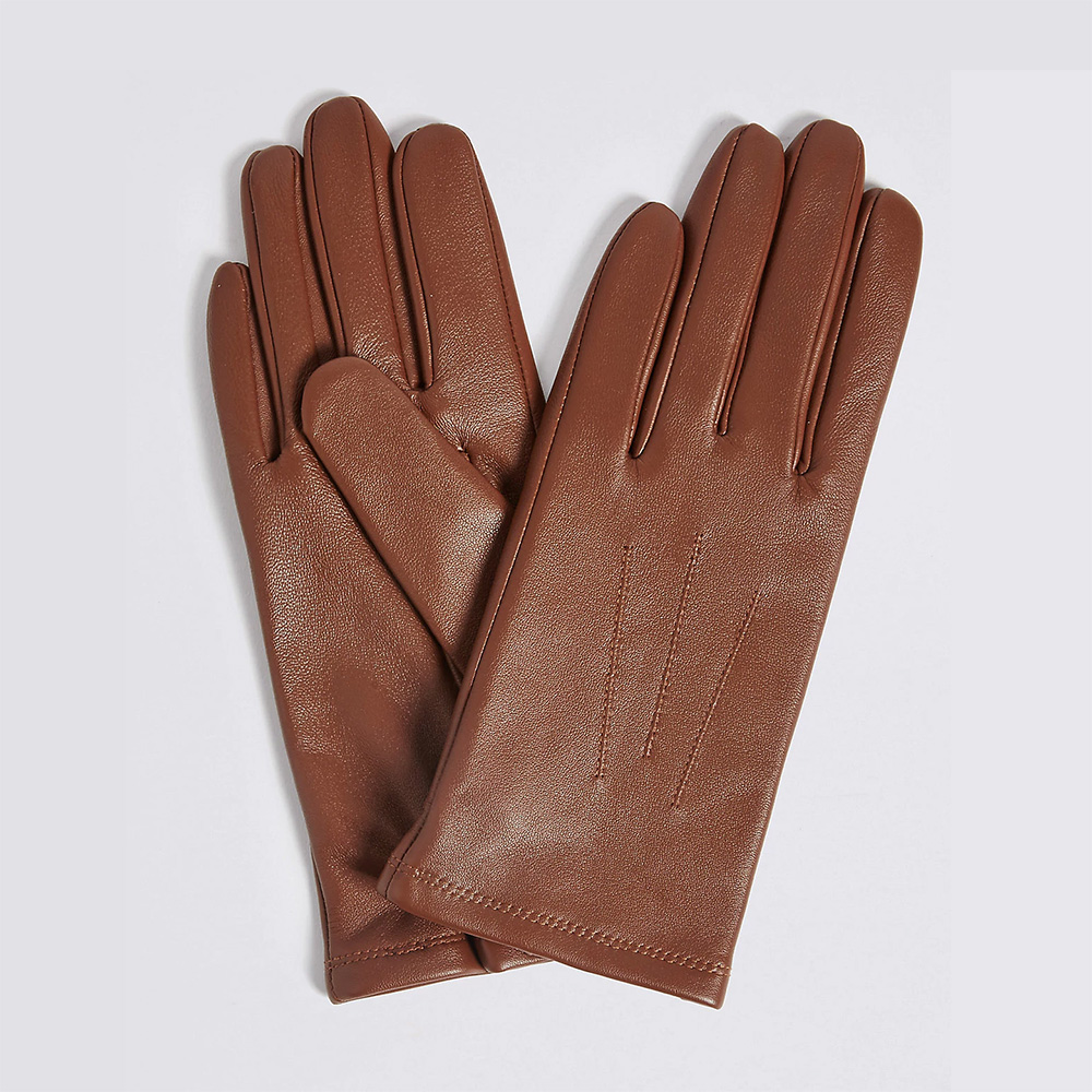 Mark & Spencer Leather Stitch Detail Gloves