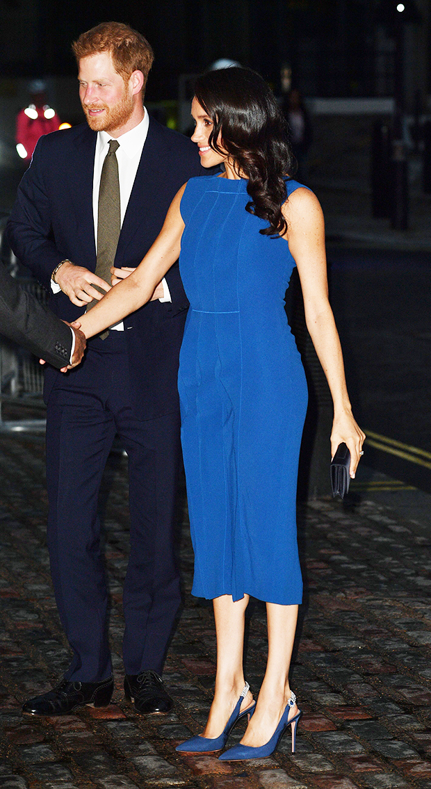 Jason Wu Royal Blue Ruffle Front Dress-Meghan Markle