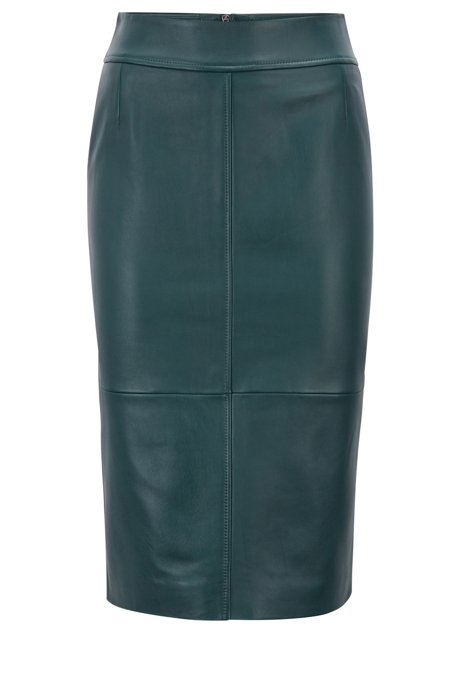 Hugo Boss Green Leather Skirt-Meghan Markle