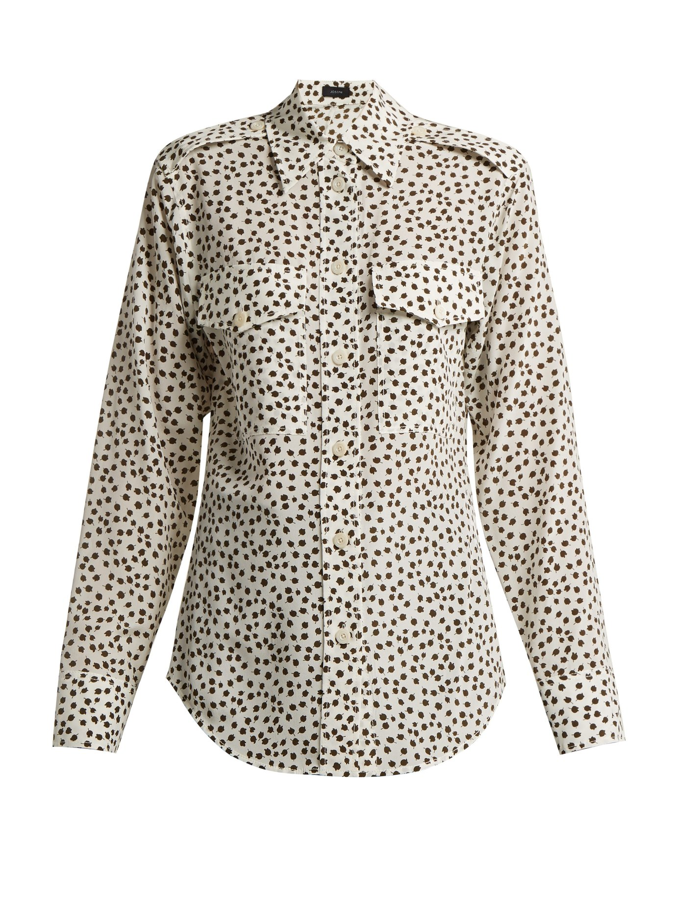Joseph Rainer Printed Silk Shirt-Kate Middleton