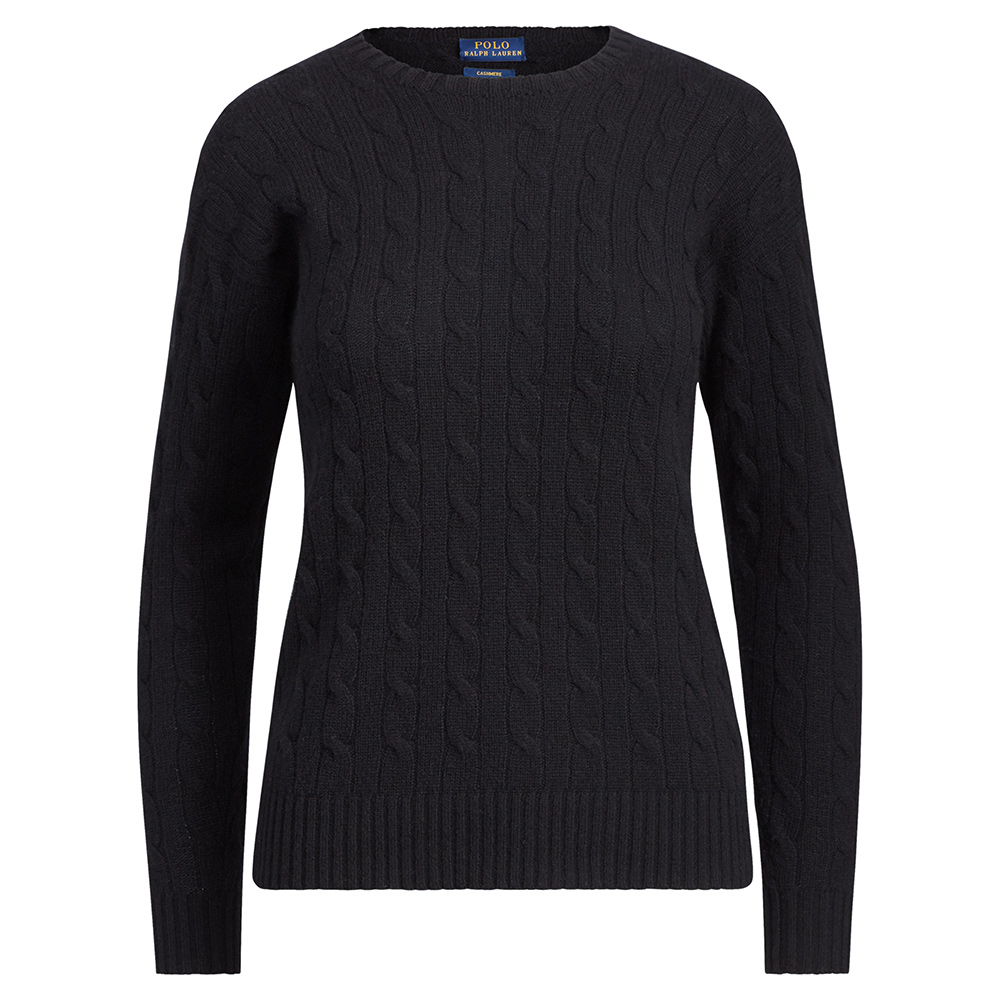 Ralph Lauren Black Cashmere Cable-Knit Sweater-Meghan Markle