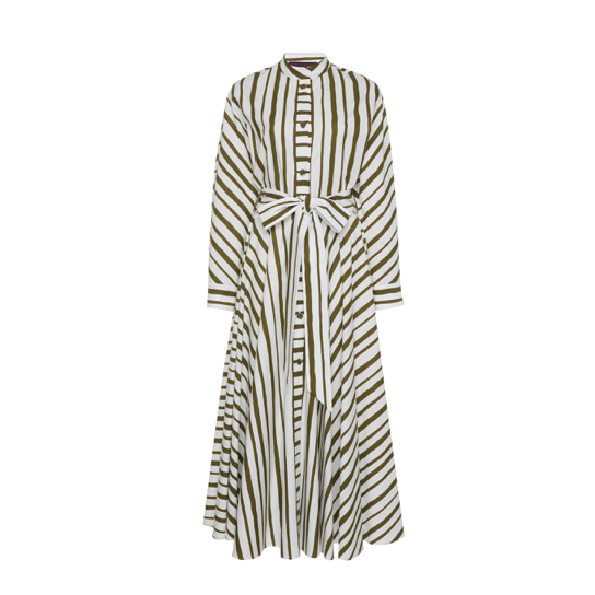 Martin Grant Striped Cotton Dress-Meghan Markle