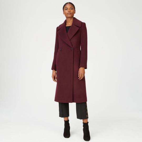 Club Monaco Red Burgundy 'Daylina' Coat-Meghan Markle