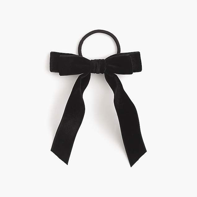 J.Crew Black Velvet Hair Tie-Kate Middleton