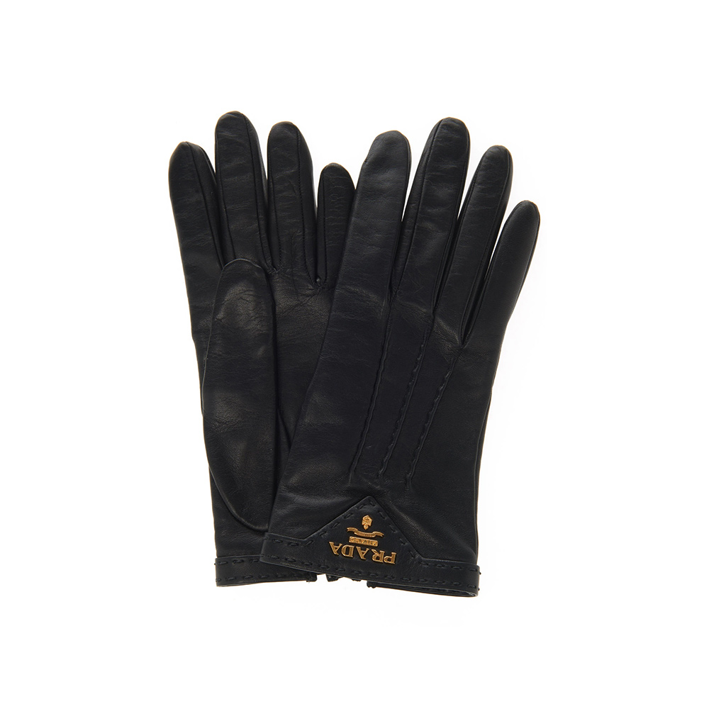 Prada Black Leather Gloves-Meghan Markle