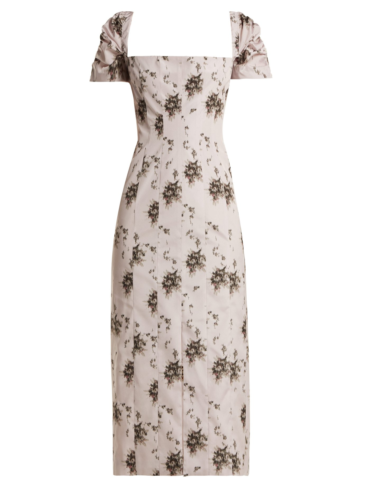 Brock Collection 'Odilia' Floral Print Midi Dress-Meghan Markle