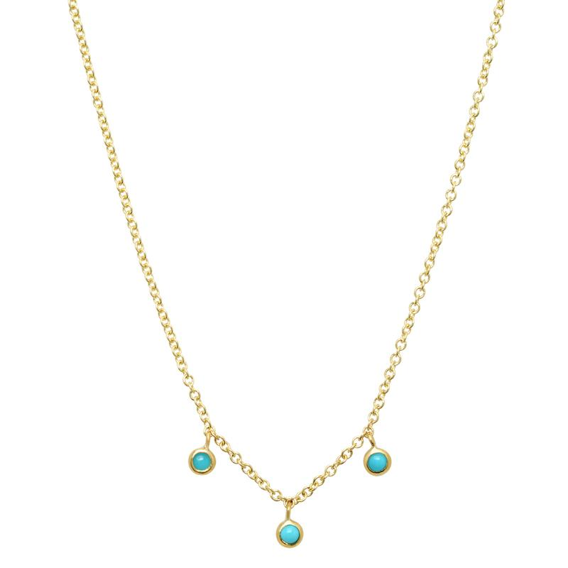 Jennifer Meyer Gold Turquoise Necklace-Meghan Markle