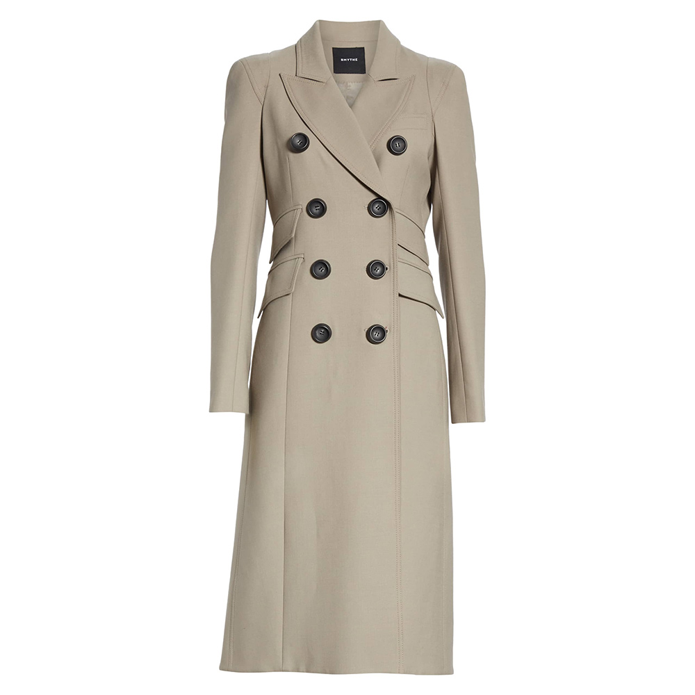 Smythe 'Pagoda' Double Breasted Coat-Meghan Markle