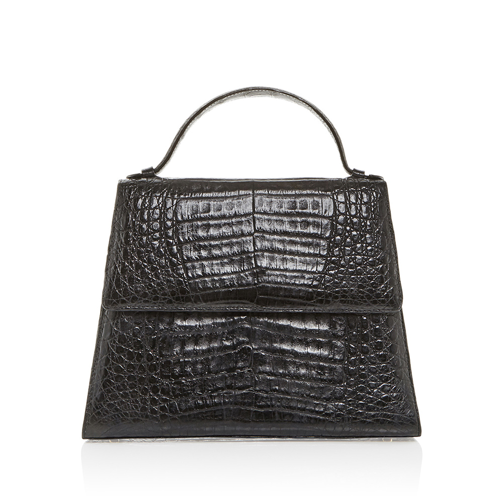 Hunting Season Crocodile Top Handle Bag-Meghan Markle