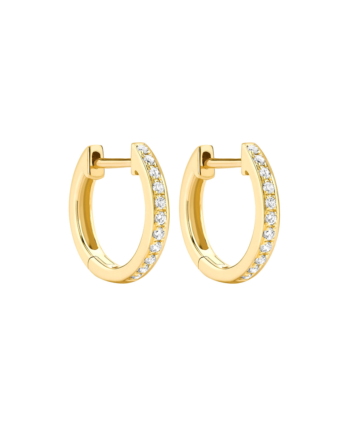 Kiki McDonough Yellow Gold Diamond Hoop Earrings-Kate Middleton