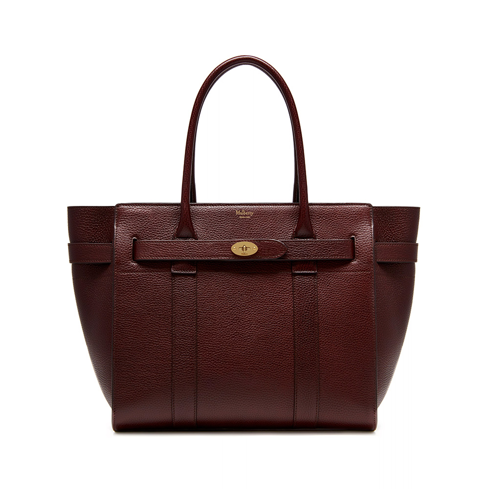 Mulberry Bayswater Burgundy Tote-Meghan Markle