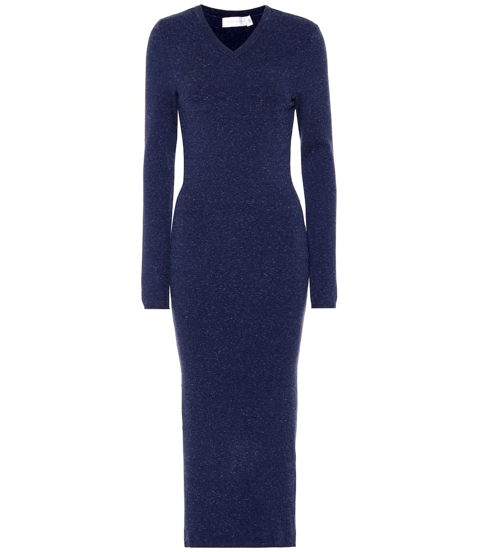 Victoria Beckham Wool-Blend Midi Dress-Meghan Markle