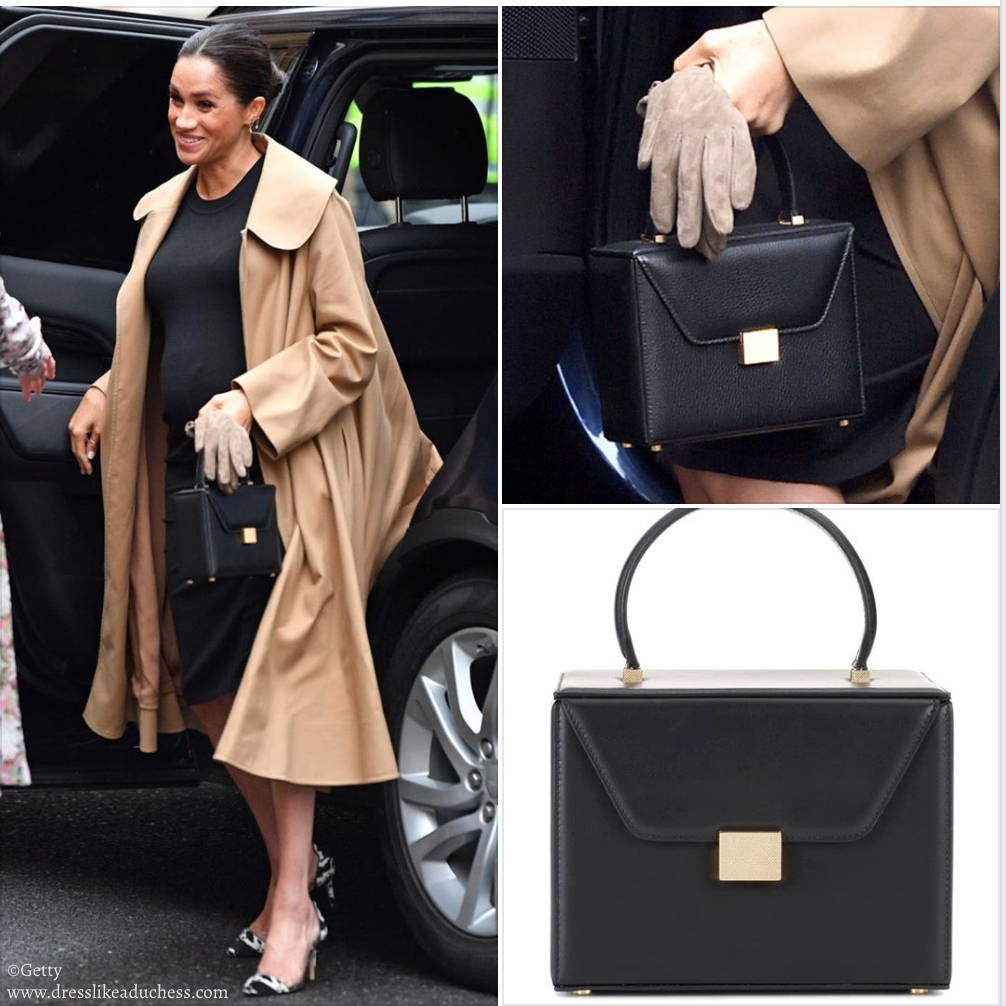Victoria Beckham Vanity Box Black Handbag Meghan Markle