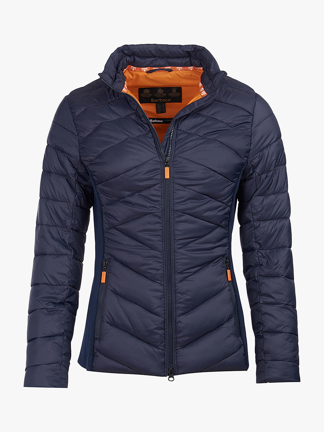 Barbour Longshore Quilted Jacket Navy/Marigold-Kate Middleton