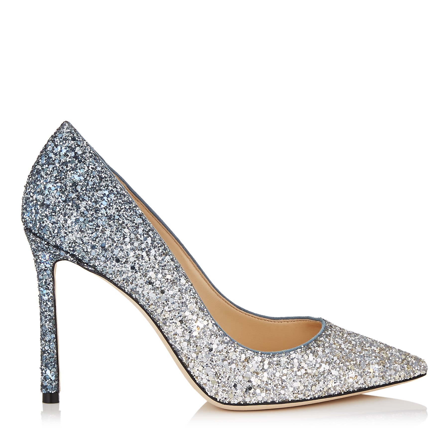 Jimmy Choo Romy 100 Glitter Pumps-Kate Middleton