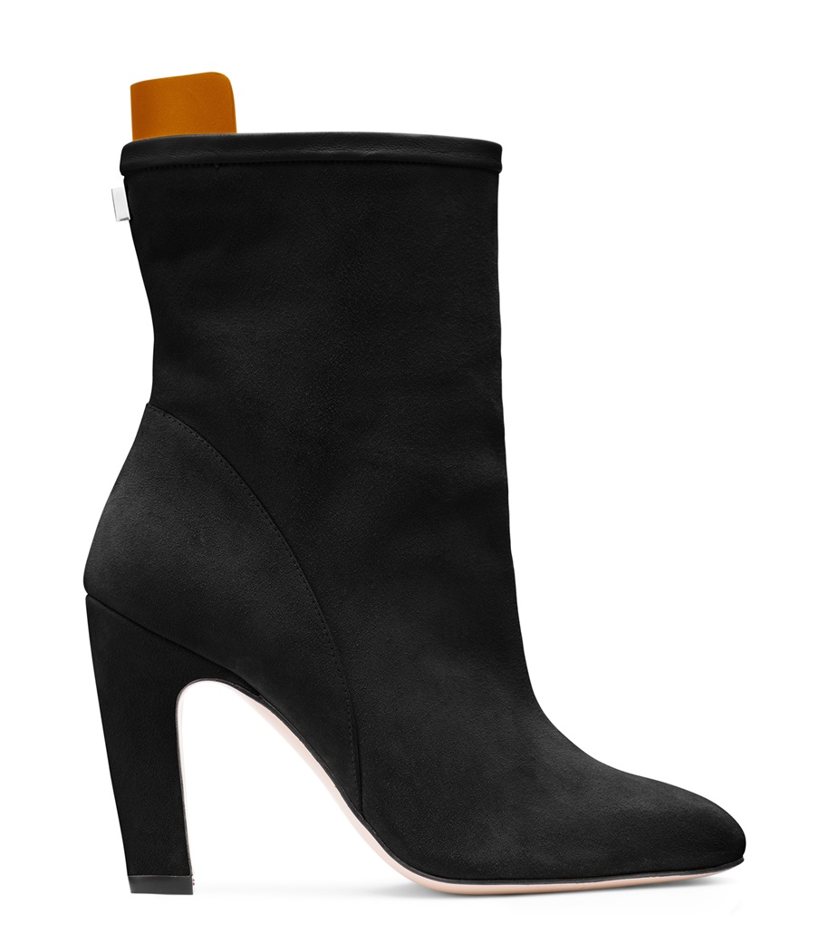 Stuart Weitzman 'Brooks' Suede Black Booties-Meghan Markle