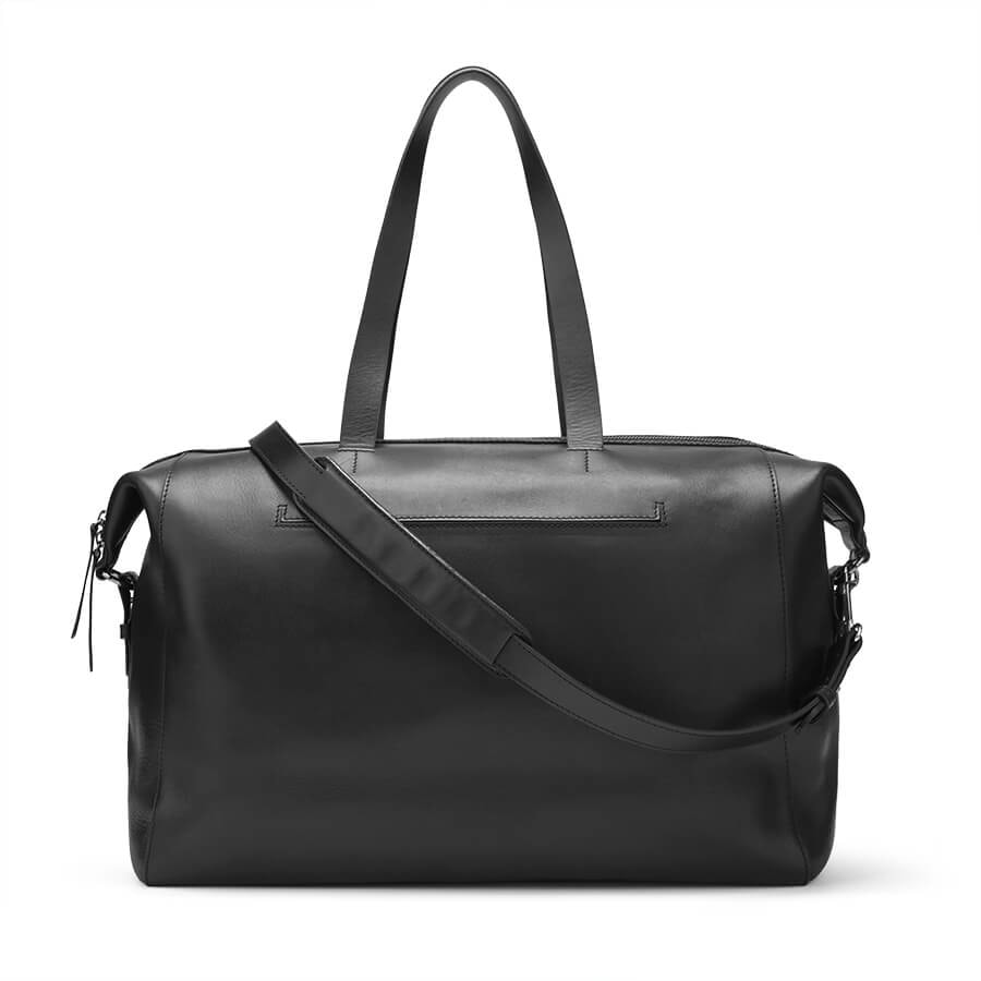 Cuyana Le Sud Black Leather Weekender Bag -Meghan Markle