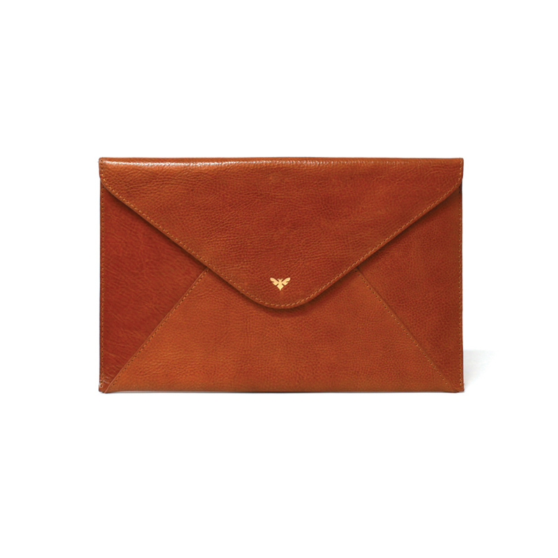 Ebby Rane 'The 1887 Clutch' Cognac-Meghan Markle