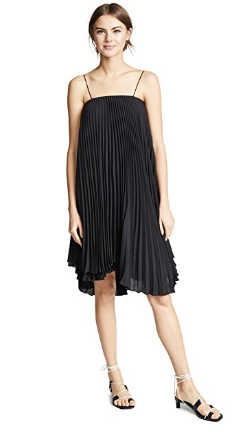 Loyd/Ford Pleated Mini Dress (Black)-Meghan Markle