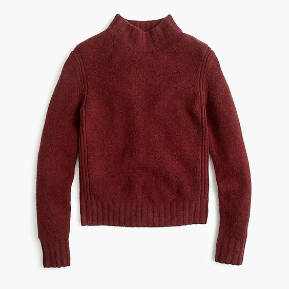 J.Crew Mockneck Mahogany Sweater-Kate Middleton