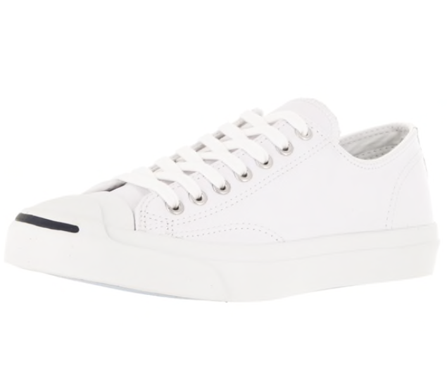 Converse Jack Purcell Low Top White Sneakers-Meghan Markle