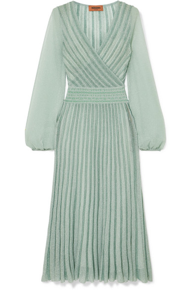 Missoni Metallic Lurex Midi Dress(mint)-Kate Middleton