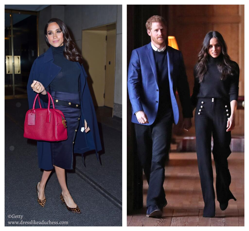 7beb52696 The duchess also previously wore button emblazoned flared trousers for an  Instagram moment.
