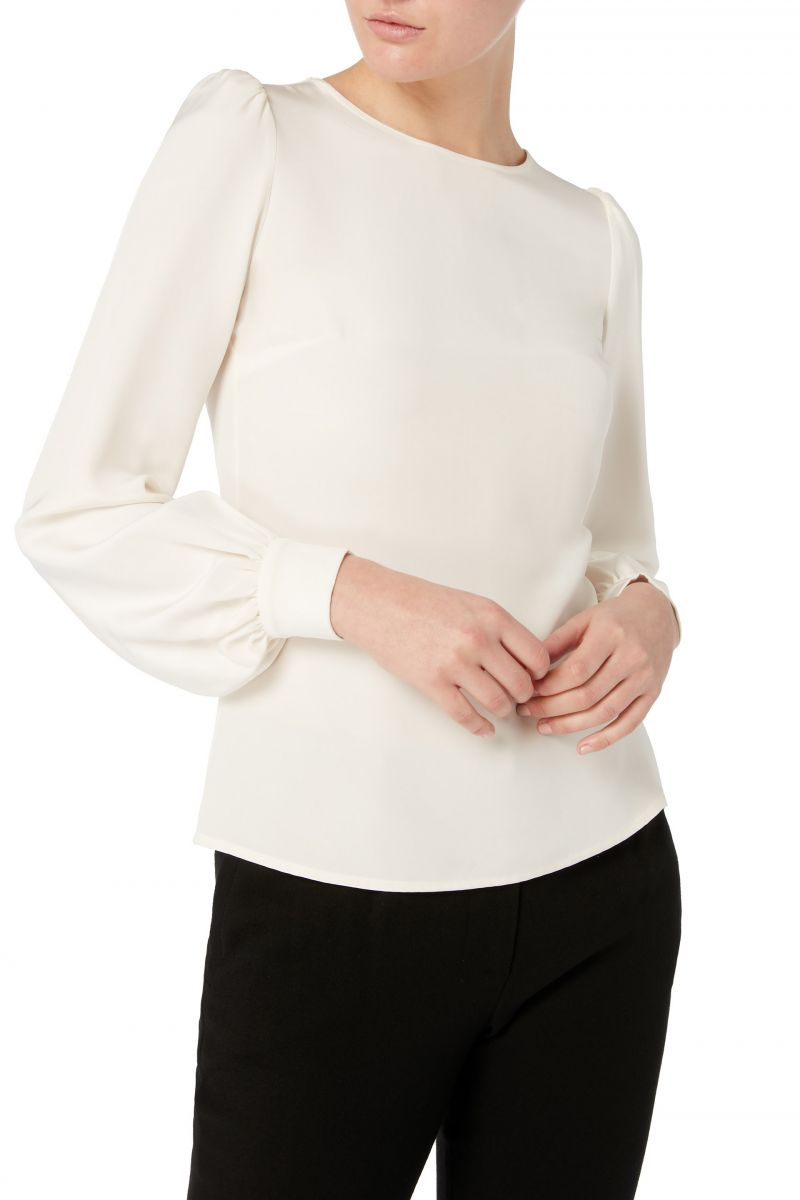 Goat Binky White Blouse-Kate Middleton