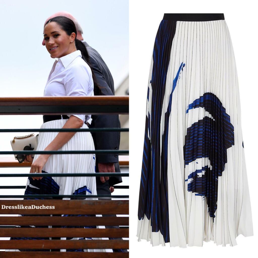 Hugo Boss A Line Pleated Skirt Meghan Markle Dress Like