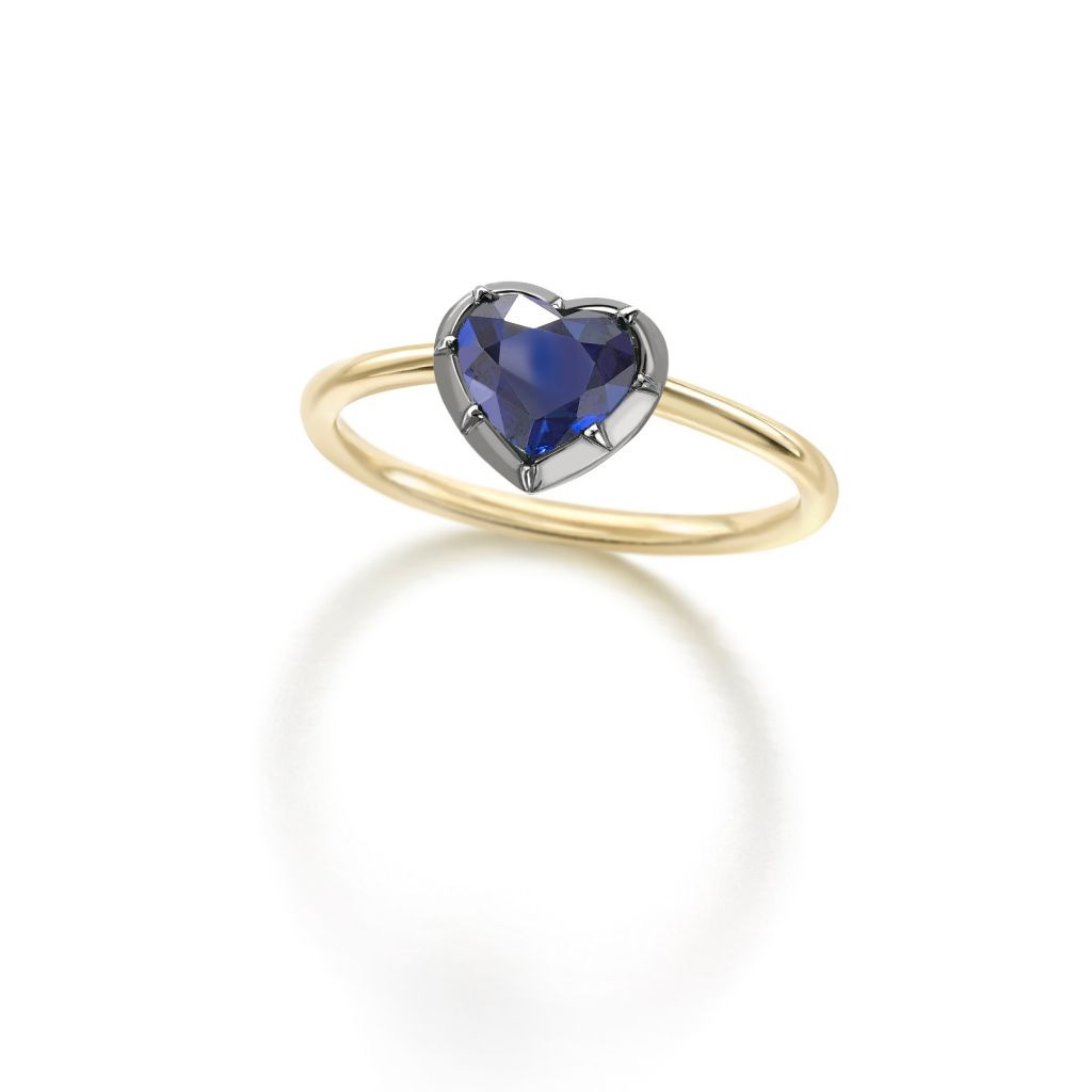 Jessica McCormack Sapphire Heart Ring-Meghan Markle