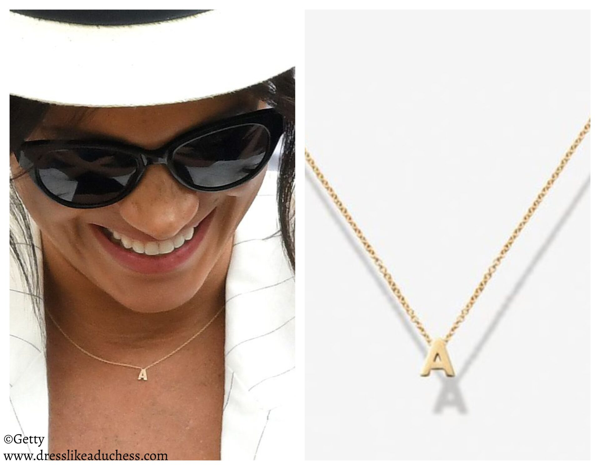 Verse 'A' Necklace Love Letters Collection-Meghan Markle