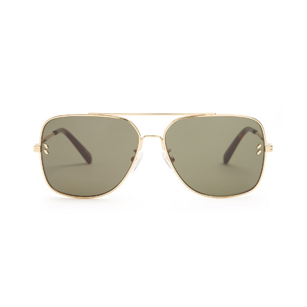 Stella McCartney-Aviator Gold Tone Frame Sunglasses-Meghan Markle